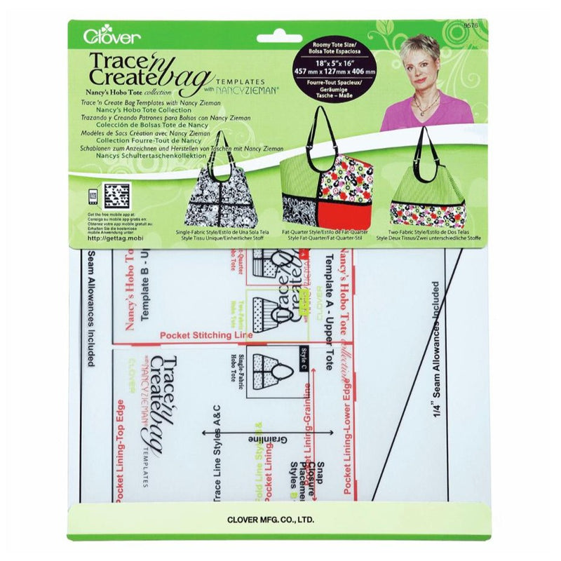 Clover Trace n Create Hobo Tote Bag Template Kit