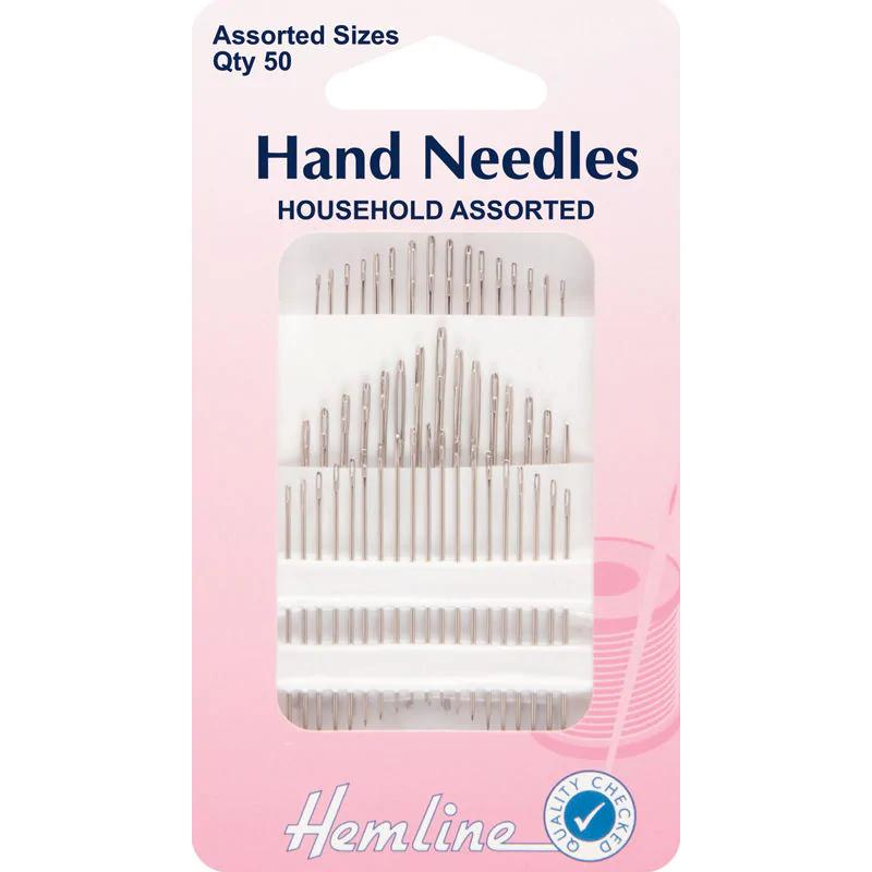 Hand Sewing Needles: Household Assorted: Qty 50