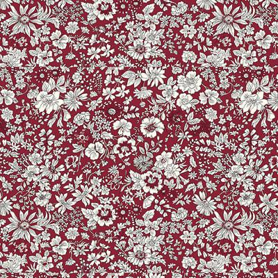 Liberty Flower Show Winter 'Emily Silhouette' Maroon 719E: Cut to Order