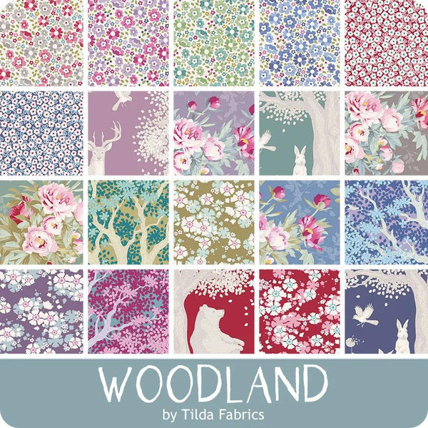 Tilda Woodland Complete Collection: 20 x 1/2 metres plus FREE buttons **PREORDER Opportunity**