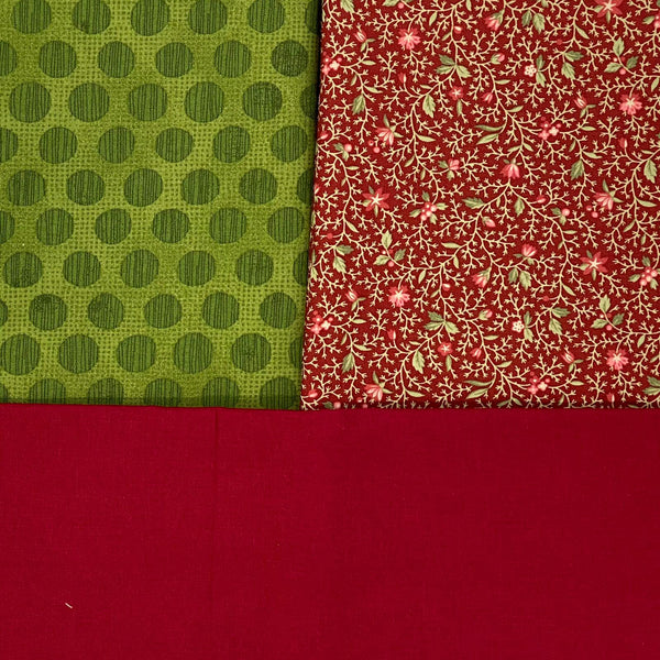 Fusion Friday: Moda 'Marchess de Noel' and 'Grunge Spot' in Evergreen with Crimson