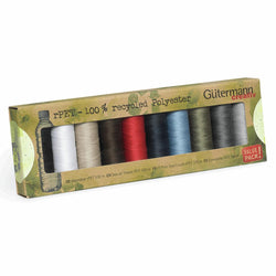 Gutermann Thread Set: Sew-All: Recycled (rPET): 10 x 100m: Assorted Classics