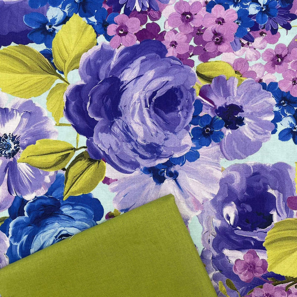 Half Metre Heaven: Michael Miller 'Fantasy Bloom' with Chartreuse