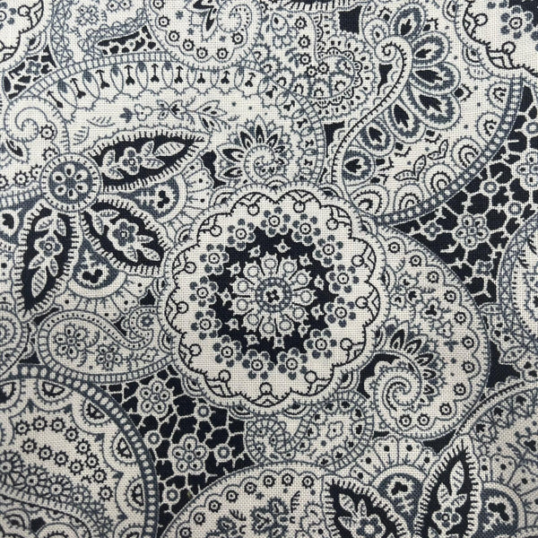 Liberty Emporium 'Paisley Meadow' Grey 913B: Cut to Order