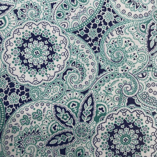 Liberty Emporium 'Paisley Meadow' Teal 913A: Cut to Order