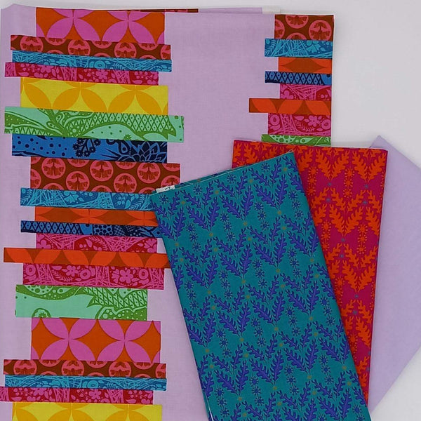 Strippy 4-Patch Quilt Kit: Bright Option