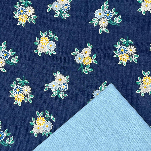 Half Metre Heaven: Liberty 'Kyoto Posey' Blue 907B with Candy Blue