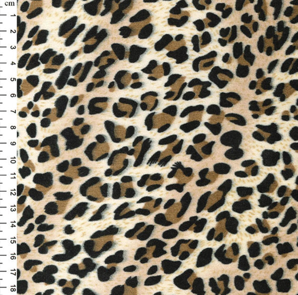 "60"" Wide Leopard Print Velour: Cut to Order by the METRE"