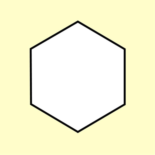 "'Hexiform': 3/4"" (19mm) Hexagons for EPP x 60"
