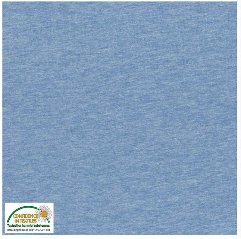 Avalana Jersey Melange: 20-159 Blue: Cut to Order by the 1/2m