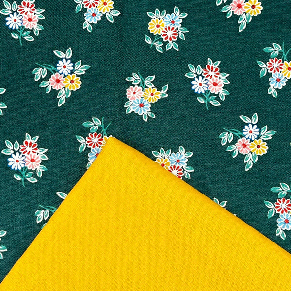 Half Metre Heaven: Liberty 'Kyoto Posey' Emerald with Gold