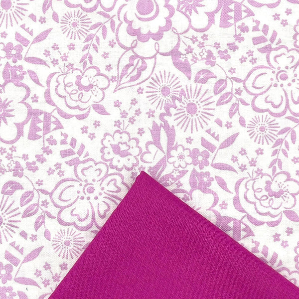 Half Metre Heaven: Liberty 'Lindy Silhouette' Pink with Raspberry