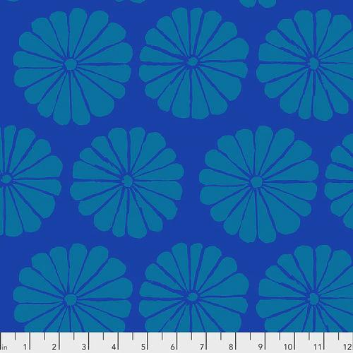 Kaffe Fassett Collective 2021: 'Damask Flower' Blue: Cut to Order by the 1/2m