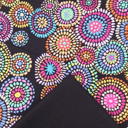 Half Metre Heaven: Kaffe Fassett Collective 'Mosaic Circles' Black with Black