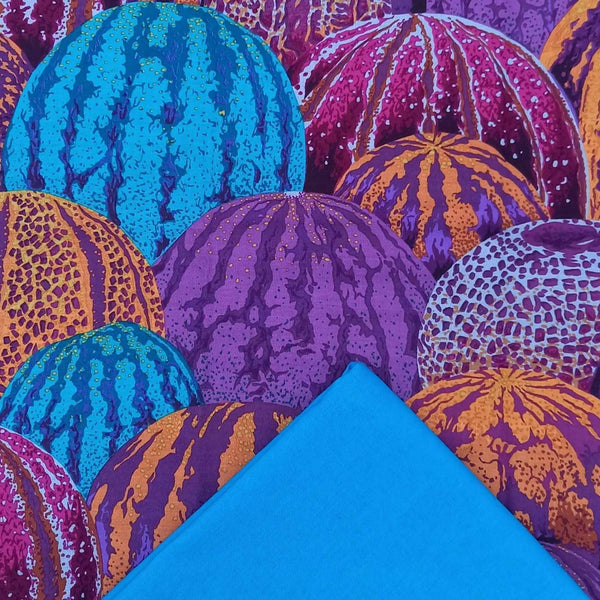 Half Metre Heaven: Kaffe Fassett Collective 'Watermelons' Purple with Sapphire