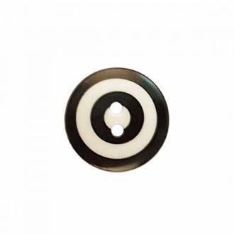 "Kaffe Fassett Collective: 15mm ""Target"" Button 261393: Black/White"