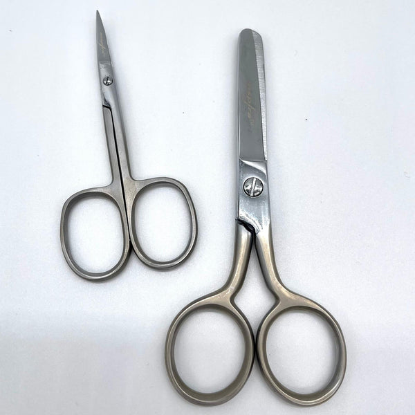 INSPIRA® Scissor DUO: Curved Embroidery and Blunt Tip Pocket