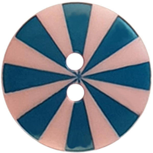 "Kaffe Fassett Collective: 20mm ""Radiate"" Button 300986: Pink/Blue"