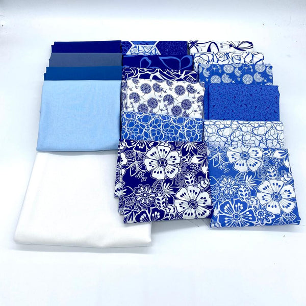 Blank 'Blue Bayou' Quilt Kit with FREE Printed Pattern