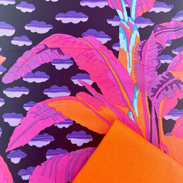 Half Metre Heaven: Kaffe Fassett Collective 'Banana Tree' Black with Orange