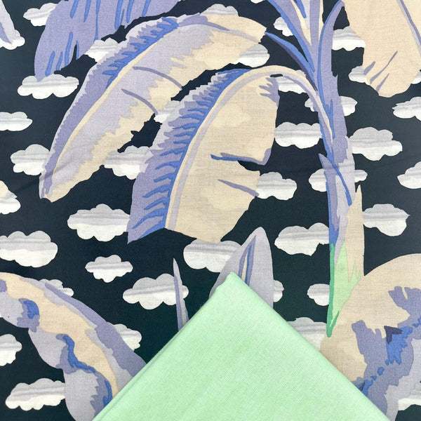 Half Metre Heaven: Kaffe Fassett Collective 'Banana Tree' Grey with Ice Green
