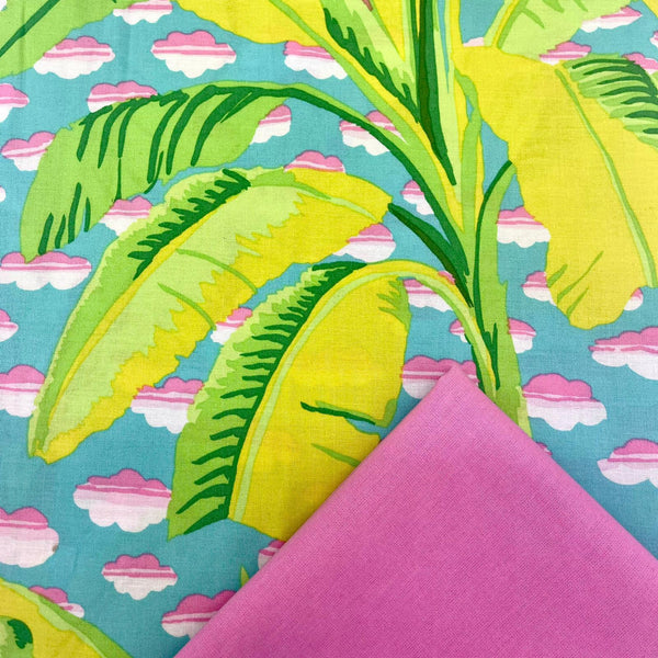 Half Metre Heaven: Kaffe Fassett Collective 'Banana Tree' Green with Fuchsia