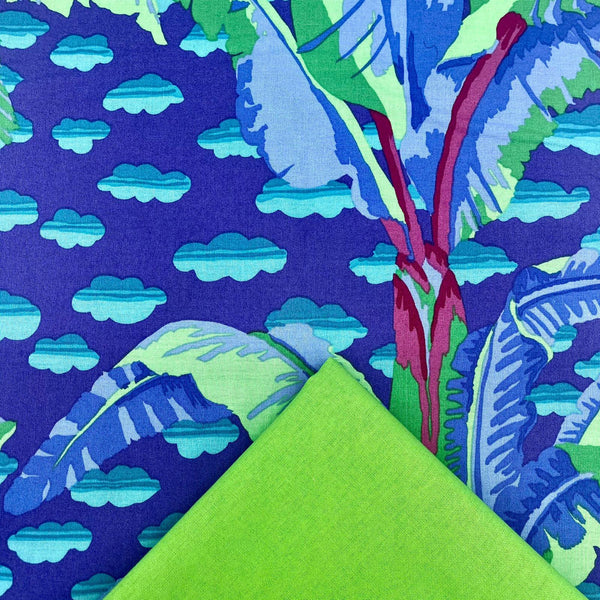 Half Metre Heaven: Kaffe Fassett Collective 'Banana Tree' Purple with Lime