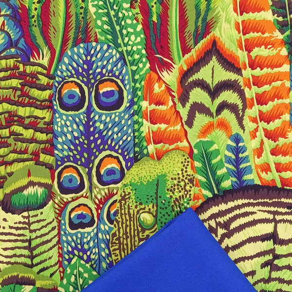 Half Metre Heaven: Kaffe Fassett Collective 'Feathers' Lime with Marine