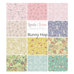 Rag Quilt Fabric Bundle: 11x Long Quarters: Lewis & Irene 'Bunny Hop'