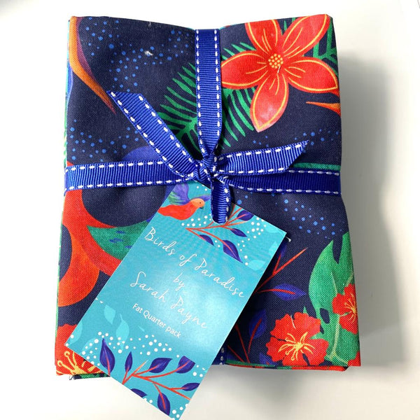 Sarah Payne: 'Birds of Paradise' Fat Quarter Bundle: Navy