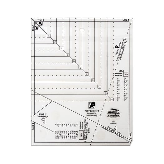 Creative Grids Non-Slip Kitty Cornered Ruler - CGRDH5