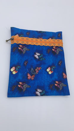 Lace Zip Pouch, flat version - INSTRUCTIONS ONLY