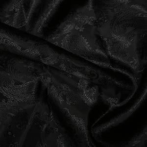 Jacquard Paisley: Cut to order by the METRE: Black