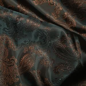 Jacquard Paisley: Cut to Order by the METRE: Bronze