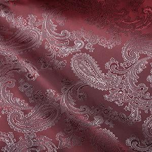 Jacquard Paisley: Cut to Order by the METRE: Heather Pink