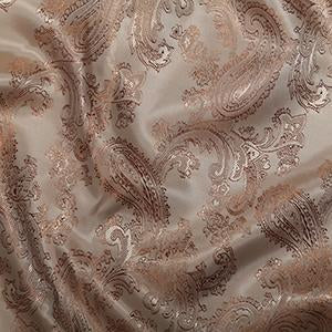 Jacquard Paisley: Cut to Order by the METRE: Mink