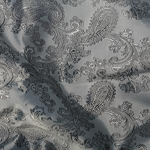 Jacquard Paisley: Cut to Order by the METRE: Silver