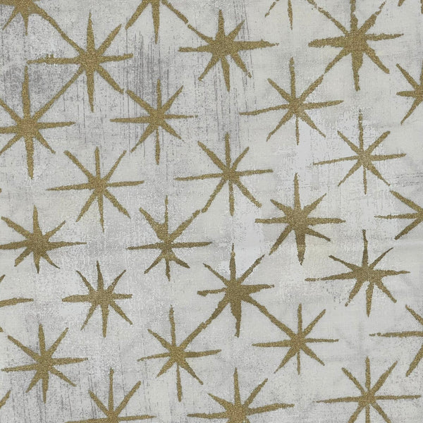 Moda Grunge: Basic Grey 'Seeing Stars' Cream/Gold 1/2m