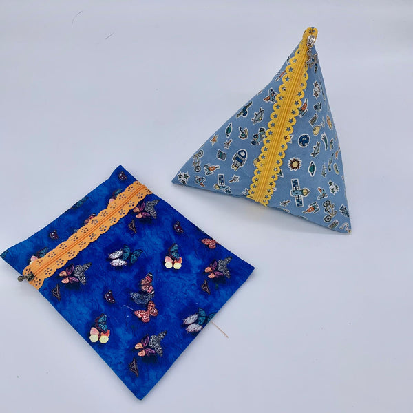 Lace Zip Pouch, pyramid and flat version - INSTRUCTIONS ONLY