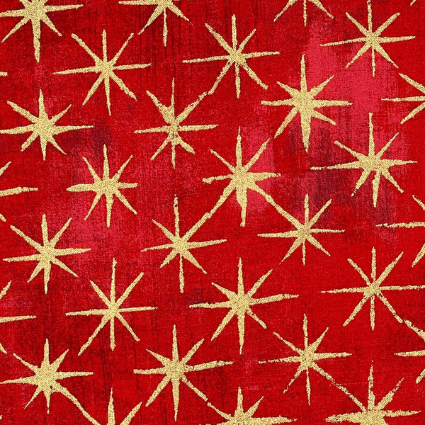 Moda Grunge: 'Seeing Stars' Red 1/2m