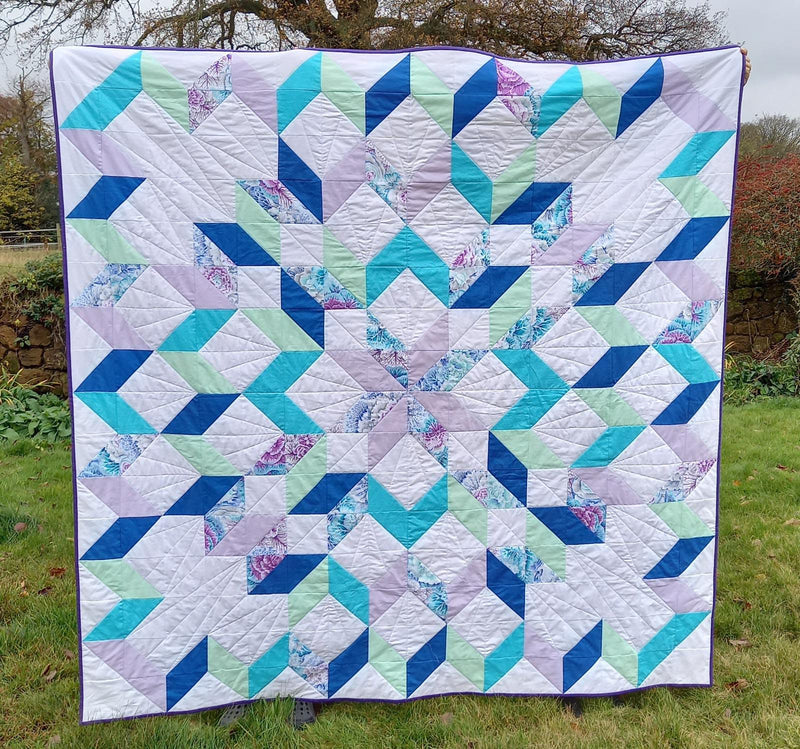 Snow Crystal Quilt Physical Instructions