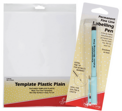 Sew Easy Template Plastic & Pen Bundle