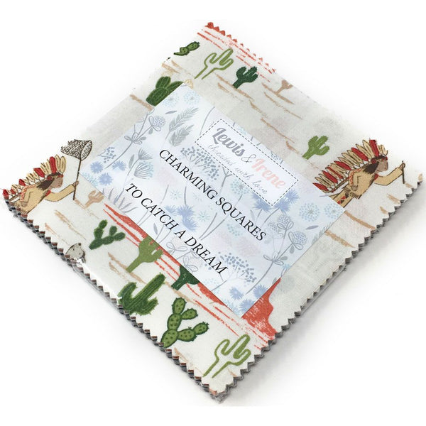 Lewis & Irene Charm Pack with FREE Coordinating Half Metre: To Catch a Dream with Cappuccino Salt Batik