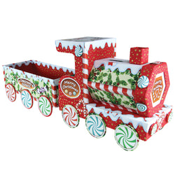 Pinflair Christmas Train Cartonnage Kit with Fabric