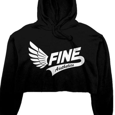 F.I.N.E Women's crop fleece hoodie