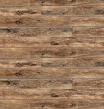 "Load image into Gallery viewer, Stone Ridged Flooring 7"" x 48"" x 5.5mm SPC Luxury Vinyl Plank in Amazon Oak"