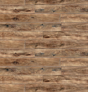 "Stone Ridged Flooring 7"" x 48"" x 5.5mm SPC Luxury Vinyl Plank in Amazon Oak"