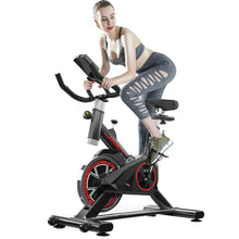 Load image into Gallery viewer, Indoor Exercise Bike, Indoor Cycling Stationary Bike Belt Drive with LCD Monitor