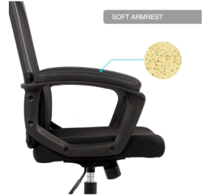 Ergonomic Office Chair High Back Office Chair Mesh Desk Chair with Padding Armrest Adjustable Headrest