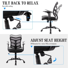 Load image into Gallery viewer, Office Chair,Desk Chair,Computer Task Chairs Armrests Swivel Casters